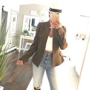Zara brown equestrian style blazer size XS
